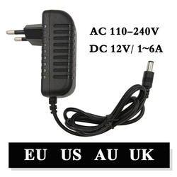 110-240 V AC DC адаптер 12В 1A 2A 3A 4A 5A 6A зарядное устройство с сетевым адаптером Универсальный Переключение питания 12 вольт светодиодное освещение