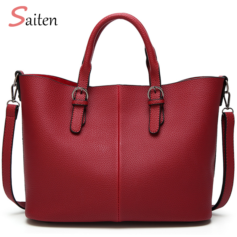 Saiten New 2017 Famous Brand Hand Bags Women Bag PU Leather Shoulder Bags Hot Sale Bag Women Handbag Casual Tote Bolsas Feminina hot sale 2016 france popular top handle bags women shoulder bags famous brand new stone handbags champagne silver hobo bag b075