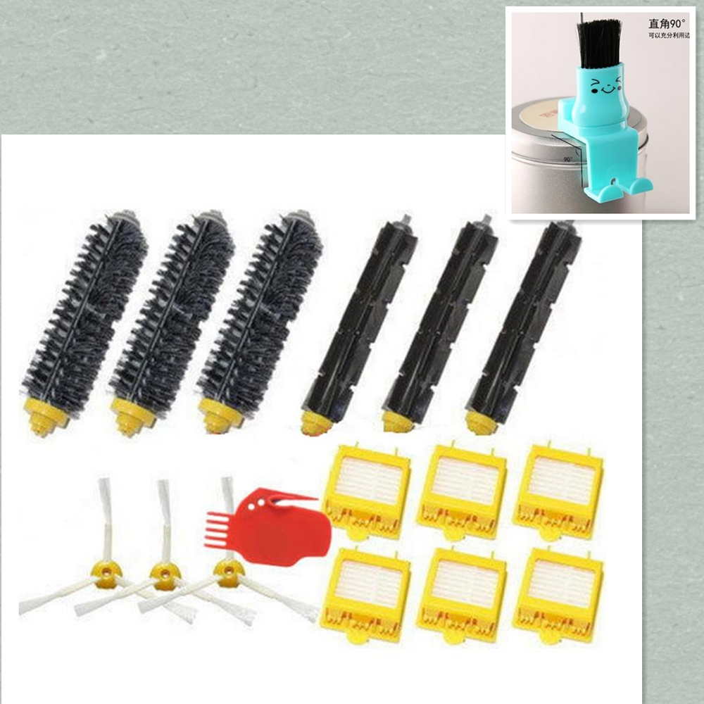Hepa Filter + Flexible Beater Bristle Brush kit + side brush tool for iRobot Roomba 700 Series 760 770 780 790 accessory parts 6pcs hepa filter clean replacement tool kit fit for irobot roomba 700 series 760 770 780 790 free shipping