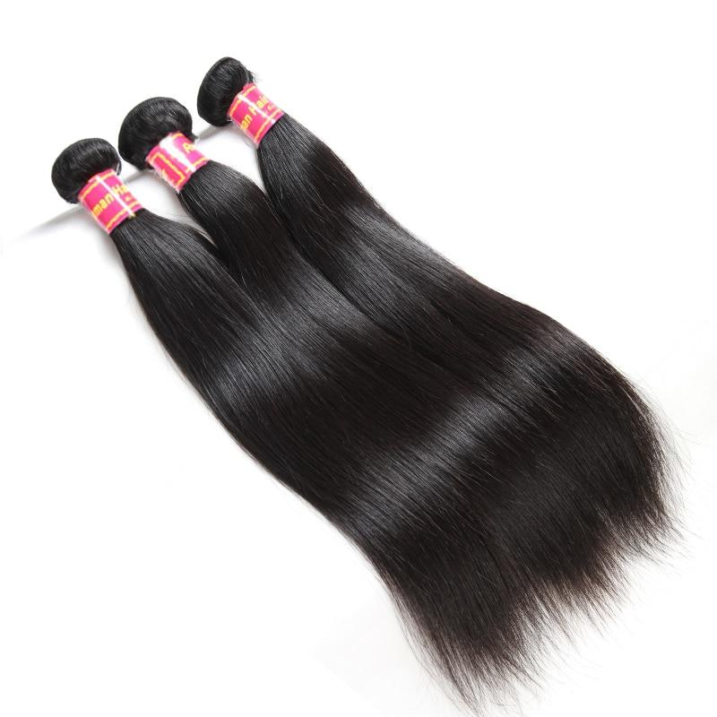 Brasilian Straight Hair Weave 1/3/4 Pcs Natural Black Remy Hair - Mänskligt hår (svart) - Foto 2
