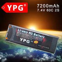 YPG 7.4V 7200mAH 60C 2S Lipo Li-poly Battery For RC Model Car Boat Truck Buggy