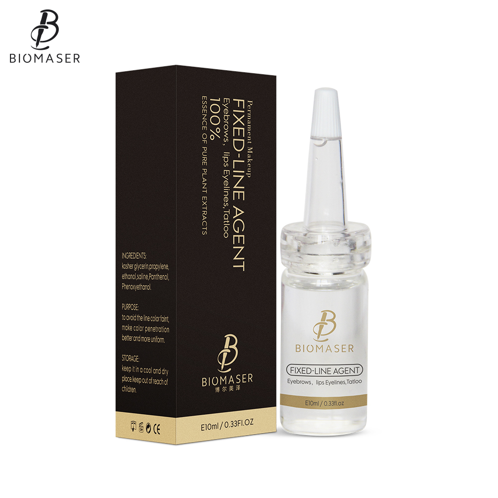 Biomaser Microblading Pigment Fixiermittel Permanent Makeup Ink Farbe Sperren Assistence Flüssigen Augenbraue-Tattoo Zubehör