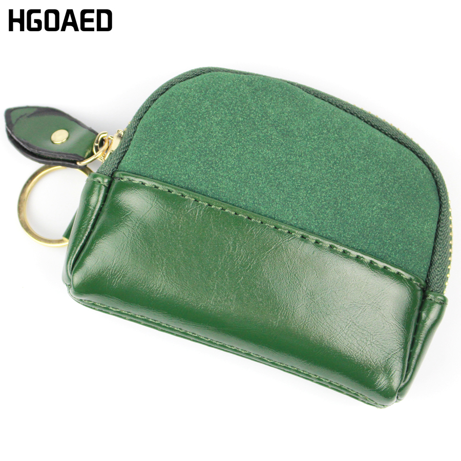 HGOAED Flower Pendant Women Coin Purse Matte Pu Leather Money Change Bag Small Zipper Women Coin Wallet Mini Key Wallet