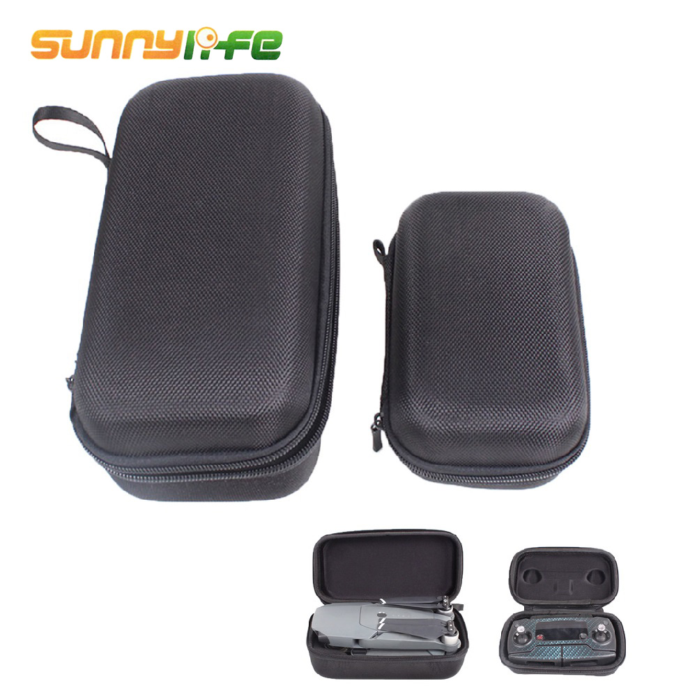 SUNNYLIFE 2Pcs Storage Bags Carrying Case Protection Box Hard Shell for DJI Mavic Pro Drone Fuselage and Remote Controller