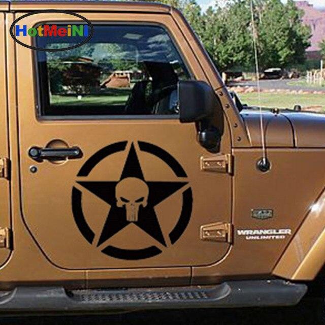 HotMeiNi 57cmx57cm Military Army Star Jagged Badge Car Sticker For Van RV Trailer Truck SUV Kayak
