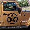 50cm X 50cm Punisher Military Army Star Car Sticker For Cars Side Truck Window Auto SUV