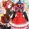 Японский Аниме Love Live Косплей Костюмы Хэллоуин! Nishikino Маки Косплей Костюмы Лолита Девушки Фантазии Горничной Платье Конфеты