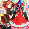 Japanese Anime Love Live Cosplay Costumes Halloween Party! Nishikino Maki Cosplay Costumes Lolita Girls Fancy Maid Candy Dress
