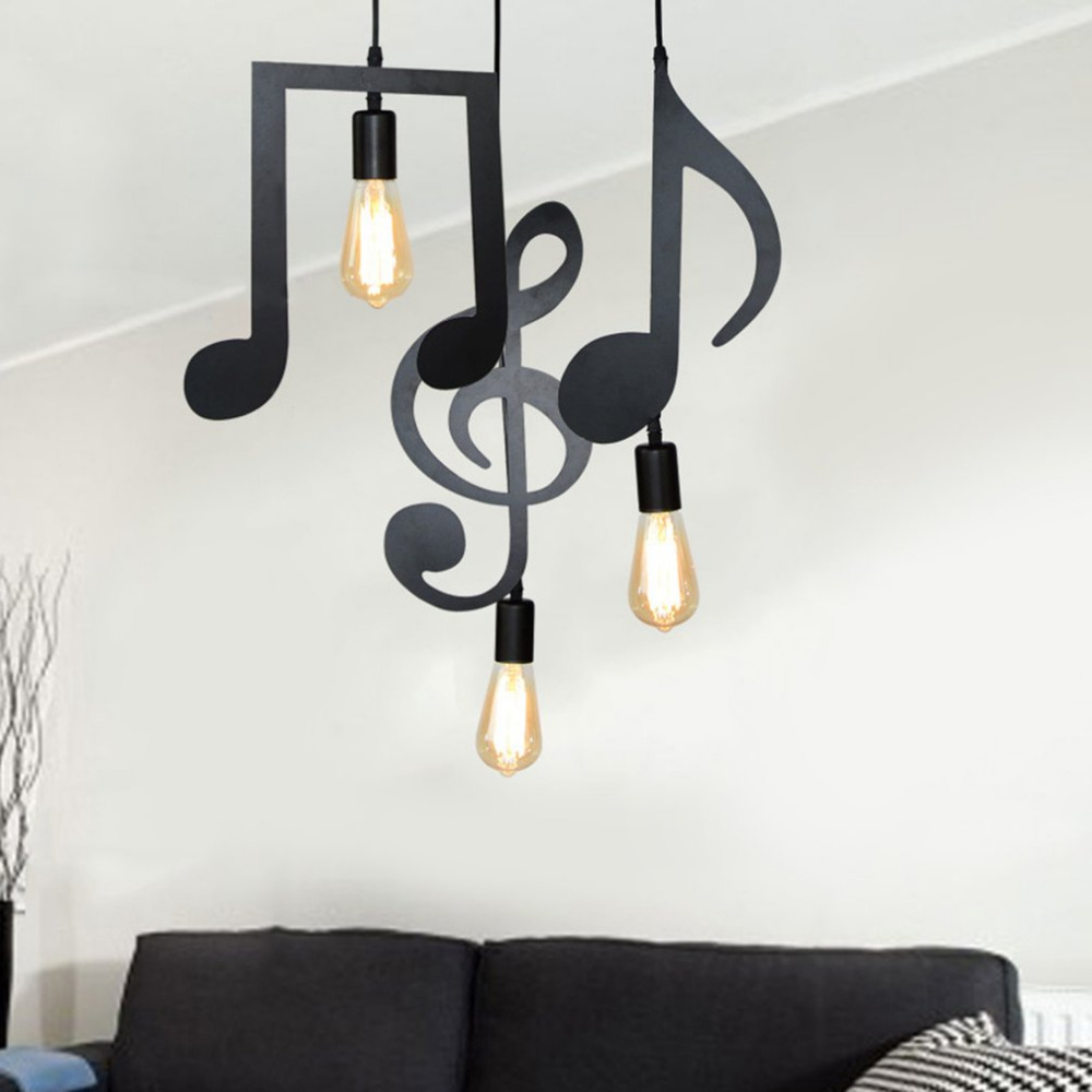 Simple Modern Design Iron Music Notes Lamp Holder with E27 Head Creative Personality Decoration for Bedroom Living RoomSimple Modern Design Iron Music Notes Lamp Holder with E27 Head Creative Personality Decoration for Bedroom Living Room
