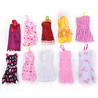 10Sets Mix Sorts Beautiful Handmade Party Clothes Fashion Dress For  Doll Accessories Toys Best Gift Toys