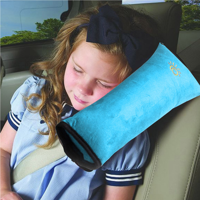 Mother & Kids Strong-Willed Childrens Neck Headrest Seat Belt Shoulder Pads Removable Child Car Sleep Pillow Seatbelt Cushion Pad Head Support Choice Materials