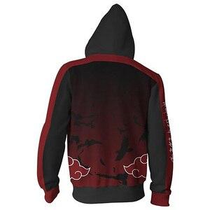 Image 2 - Anime Naruto Boruto Hoodie Uzumaki Boruto Naruto Uchiha Sasuke Akatsuki Tops Hoodies Sweatshirt Dünne Zipper Mantel Outfit