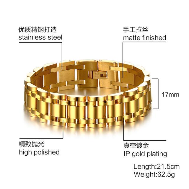 Europa e nos Estados Unidos Venda Quente Novo 2016 Moda Jóias pulseira de ouro dos homens do aço inoxidável super 2 Cor escolha