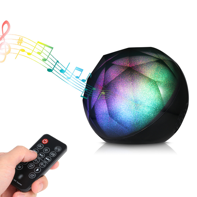 Altavoz Bluetooth inalámbrico estéreo Mini portátil luces coloridas soporte TF Super bass Subwoofer altavoz bola control remoto