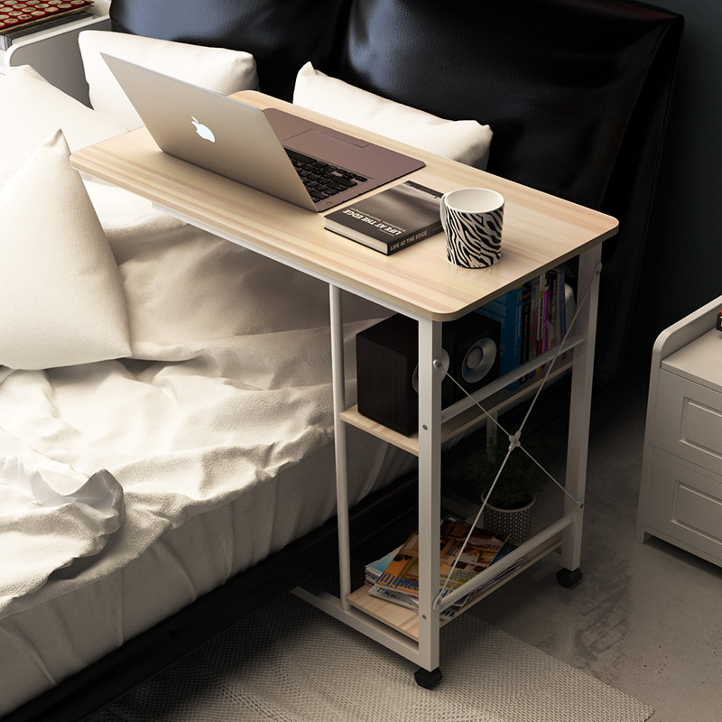 Notebook bedside computer desk lazy desktop simple desk on household bed simple folding mobile table  free shipping by DHL/EMS folding wood laptop table lazy bedside table notebook computer desk