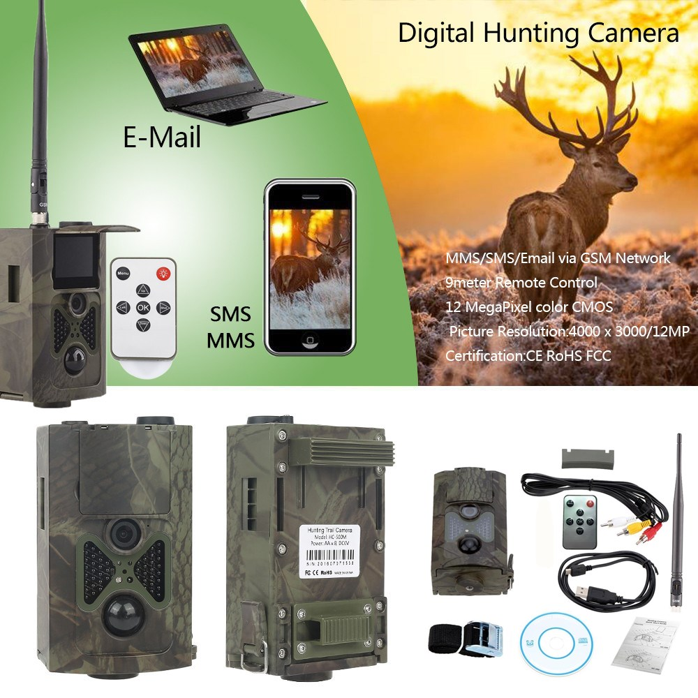 Suntek HC500M HD Hunting Trail Camera HC-500M for Wildlife Photo Trap Night Vision Infrared Motion Hunting Video Camera CE ROHS