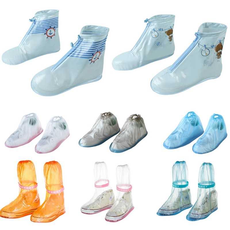Sepatu Tembaga Sepatu Tahan Air Sepatu Dapat Digunakan Kembali Tahan Air Pria & Wanita & Anak Rain Cover Aksesoris Sepatu