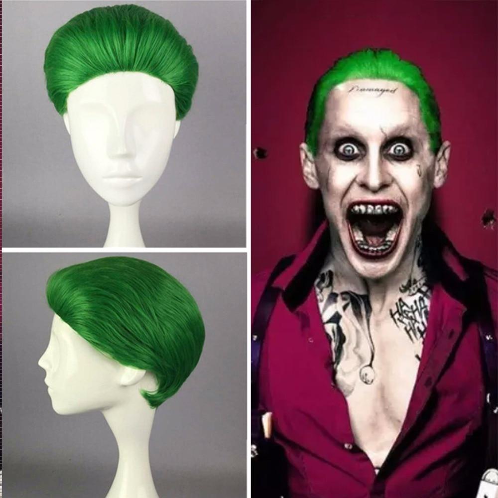 Batman Series Movie Suiscide Squad Joker Cosplay Jack Joseph Suicide Squad Costume Accessories Short Green Heat Resistant Hair