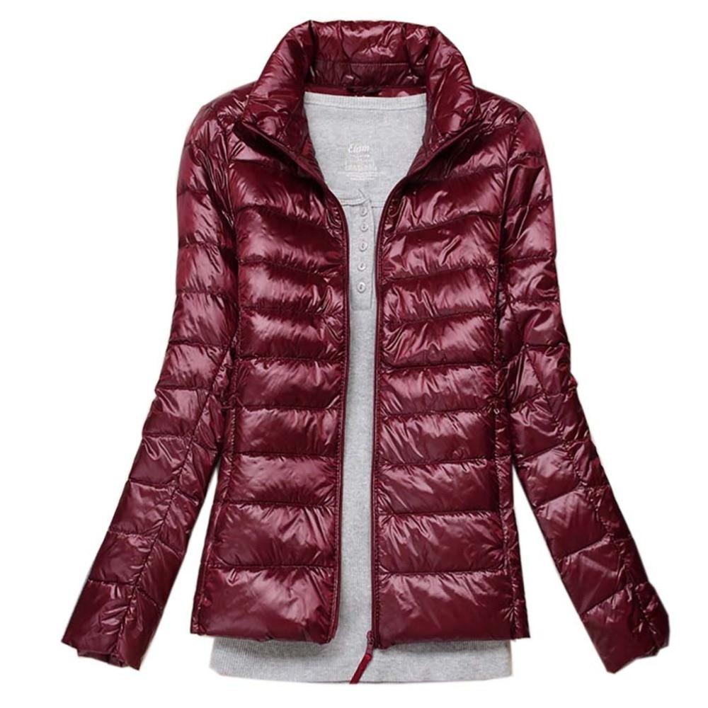 Plus Size 5XL 6XL Winter Women Ultra Light   Down   Jacket Duck   Down   Jackets Long Sleeve Warm Slim   Coat   Parka Solid Portabl Outwear