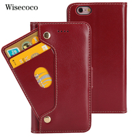 Luxury Genuine Leather Phone Case For Iphone 6 6s CaseFlip Wallet Cradit Card Holder new book Cover Coque For iphone6s iphone6