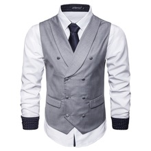 Aowofs2019 Brand Suit Vest Mens Sleeveless Jacket Solid Color Retro Fashion Spring And Autumn Large Size