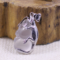 Character Silver Items Sterling Silver Ornaments Little Lizard Pulp Personality Pendant