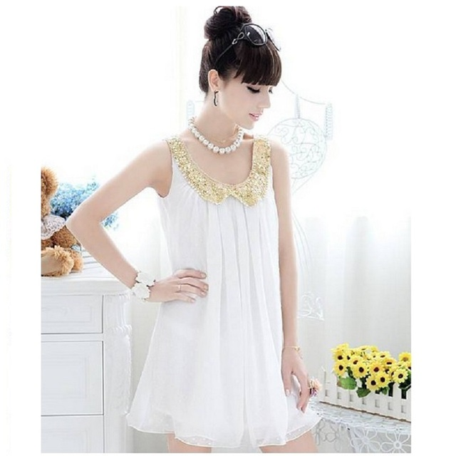2016 Maternity Clothing Dress White Maternity Dresses Pregnancy Summer Clothes For Pregnant Women Chiffon Dress (one+one)