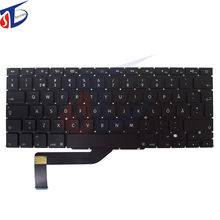 "5pcs/lot A1398 FI SD SW keyboard without backlight backlit for macbook pro 15"" retina Finland Swedish keyboard 2013-2015year"