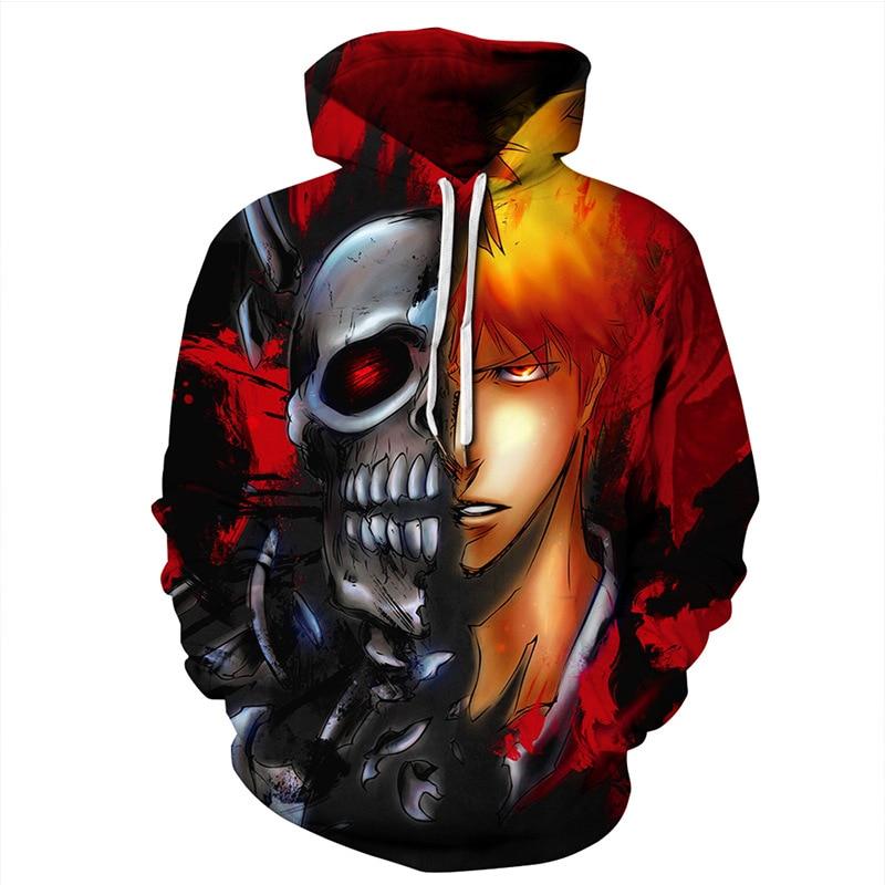 Harajuku Anime Tokyo Ghoul 3D Print Clothes Men/Women Hip Hop Streetwear Pullover Cap Sweatshirts Boys Autumn Jacket Hoodies EU