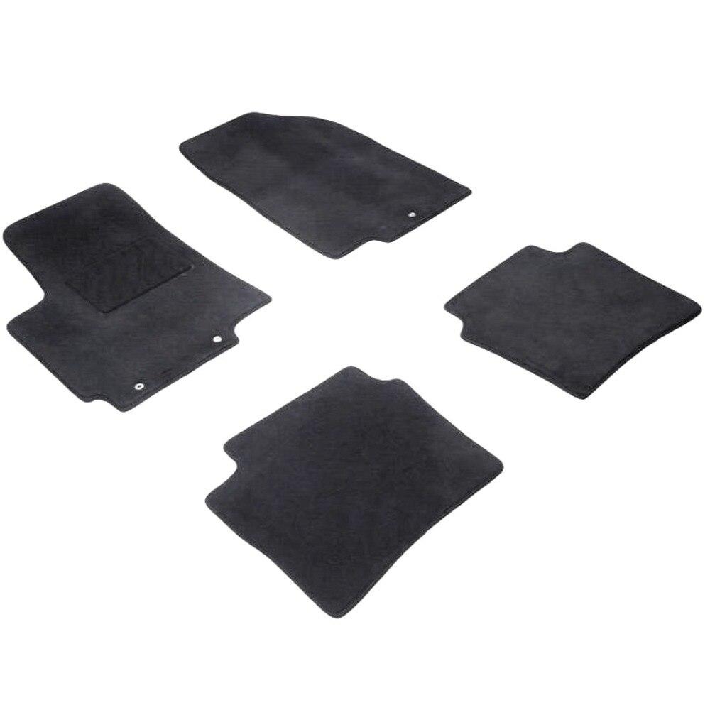 For Hyundai Solaris 2011-2016 pile floor mats into saloon 4 pcs/set Seintex 82772 for hyundai solaris 2011 2016 rubber grid floor mats into saloon 5 pcs set seintex 83112