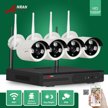 ANRAN P2P 1080P 4CH WIFI NVR HD Network Array IR Indoor Outdoor IP Wireless Camera Surveillance System CCTV Security Kits HDD