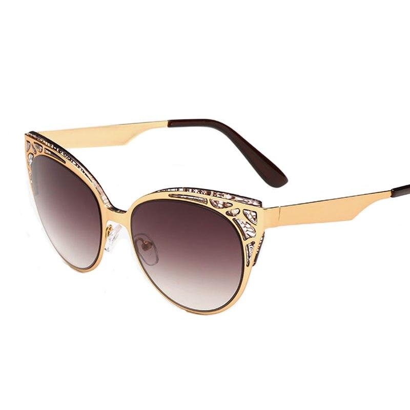 2016 Female Sun <font><b>glasses</b></font> Cat Eye Sunglasses Women Hollow Metal <font><b>Frame</b></font> <font><b>High</b></font> <font><b>Quality</b></font> Vintage sunglasses for women Oculos UV400