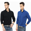 Casual Polo Shirt Men Fashion Letter Print Long-Sleeve Men's Polos New Arrival Brand Polo Shirts Man Hot-sale Slim Polos