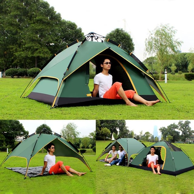 DESERTCAMEL CS099 Three-used Automatic Air Pressure Type Tent Portable Rainproof Tent Double Layers Outdoor  sc 1 st  AliExpress.com : rainproof tent - memphite.com