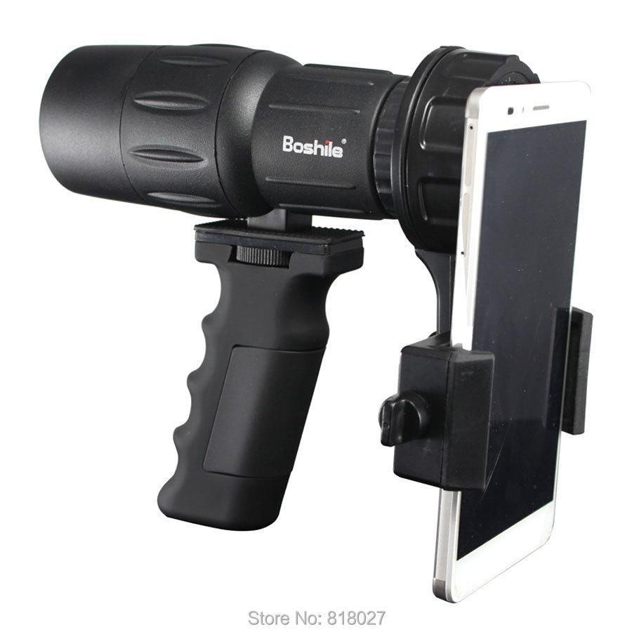 Boshile 10x42 monocular bird watching bak4 Original HD phone camera Connector telescope waterproof binoculars Hand held Portable original 1 6609941 4 connector