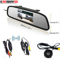 HD Video Auto Parking Monitor Waterproof Reversing CCD Car Rear View Camera With 4 3 Inch