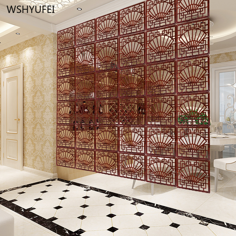 4Pcs Direct Hanging Screen Partition Wall Decoration Living Room Bedroom Folding Modern Hollow Carved Screen Partition Curtain