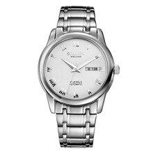 Бизнес тренд мужской стол новый подлинный SOLLEN мужчины часы автоматические механические часы мужчины водонепроницаемый 100 м