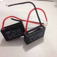 2 Pcs 1.2 uf MFD 450V AC 50/60Hz 2 Wire Electric Fan Capacitor CBB61