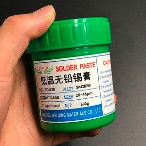 Image 3 - ホット販売! SD 528 低温smt鉛フリーsmtはんだペースト 500 グラムSn42Bi58 高品質はんだ錫ペースト送料無料