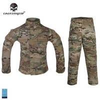 Emersongear 戦闘制服 6Y-14Y 子供子供軍事陸軍タクティカルギアペイントボール狩猟 Bdu Emerson マルチカム EM6929