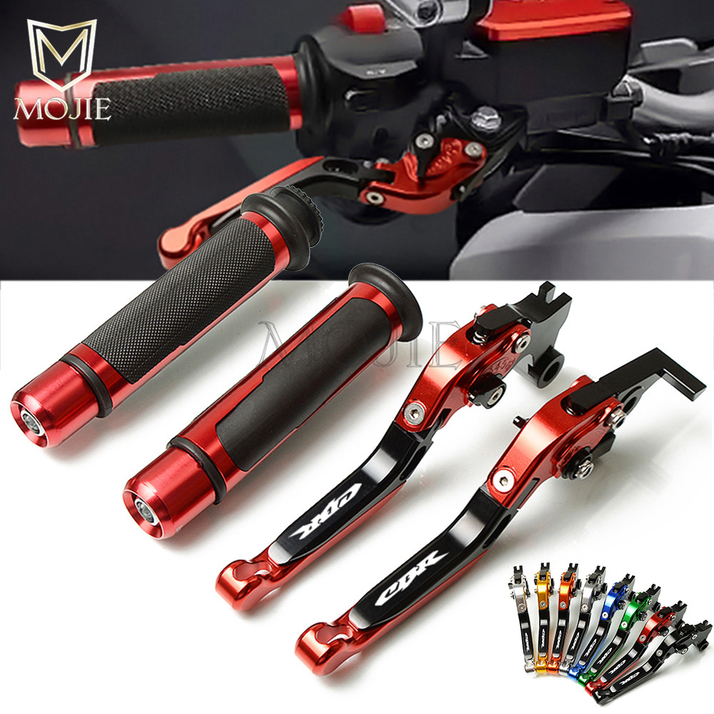 Motorcycle CNC Adjustable Foldable Brake Clutch Lever Handle Grips Handlebars For Honda CBR954RR CBR 954RR CBR