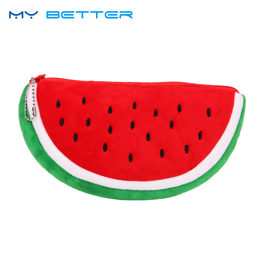 Women Cosmetic Bag Fashion Watermelon Plush Zipper Make UP Organizer Pouch Bag for Travel Organizer Necessary Beauty Case solid color fashion cosmetic bag ladies portable travel necessary markup pouch storage beauty tools accessories supply products