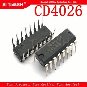 Image 1 - 10pcs/lot CD4026 CD4026BE 4026 IC CMOS Counters Decade/Divider DIP 16