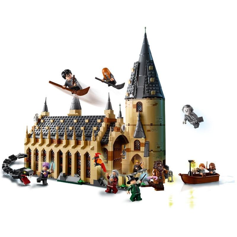 2018 new fit Harry Potter legoing chiffres Le Poudlard Grande Muraille Ensemble Modèle Blocs de construction Maison Enfants Jouets pour Noël cadeaux