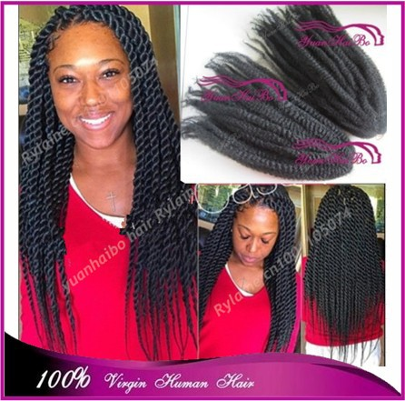 Stock Price 20 Folded Black Color 100 Kanekalon Synthetic Hair Afro Twist