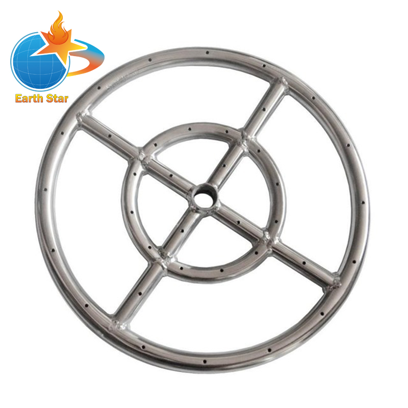 EARTH STAR 12 INCHES 304 Stainless Steel Propane Fire pit Ring Burner promotion price earth star 57mm od metal bbq stove knob for 8mm shaft valve promotion price