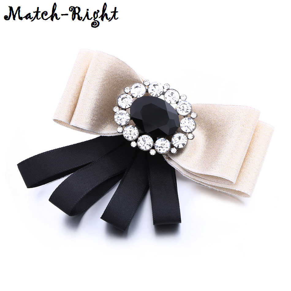 fd2d8a3f72c Ribbon Pins and Brooches for Women Large Bow Brooch pin Rhinestone Collar  Pin for Women's Clothing