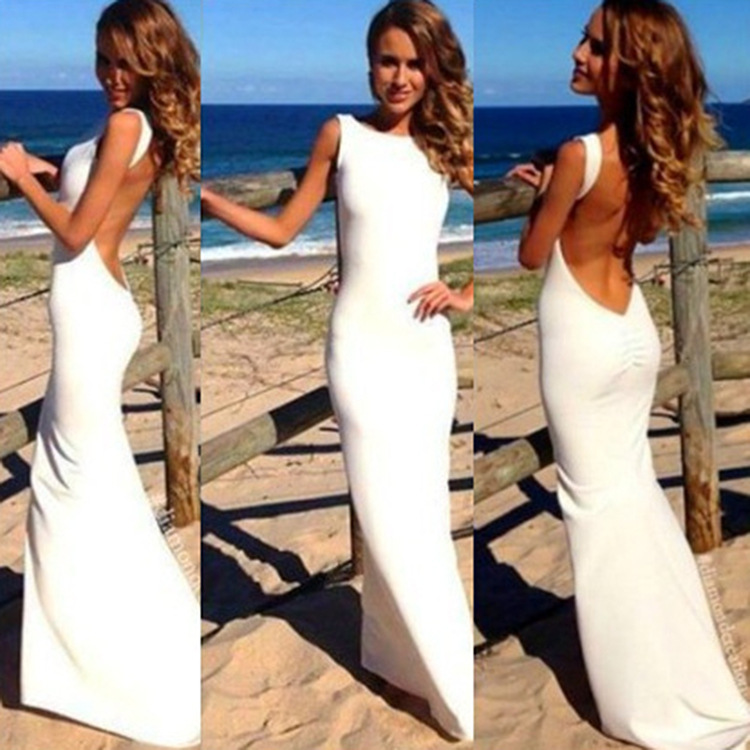 Galaxy s5 white backless dress