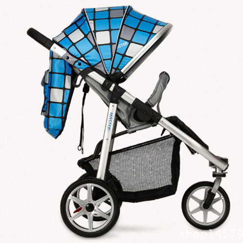 Four Wheels Stroller High stroller three-wheeled trolley lightweight folding baby stroller big child stroller sitting